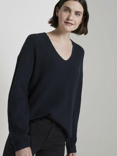 TOM TAILOR V-Ausschnitt-Pullover »Pullover mit V-Ausschnitt«