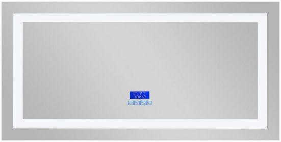 Sanotechnik LED-Lichtspiegel, 120x60 cm, mit Thermometer