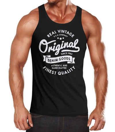 MODCHOK Herren Tank Top Baumwolle Workout A-Shirt /Ärmellos Casual Unterhemd Sport Muscle Classic Tee