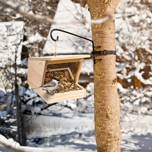 Windhager Vogelhausständer Vogelhaus-Halterung, Zubehör für alle hängbaren Windhager Vogelfuttersilos und andere gängige Vogelhäuser, für 10-20 cm Stammdurchmesser