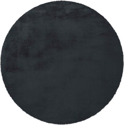 Fellteppich »Alvin«, andas, rund, Höhe 45 mm, Kaninchenfell-Optik, Kunstfell, Wohnzimmer
