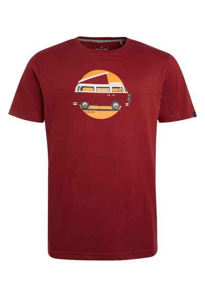 Elkline T-Shirt »Stimmt Alles« lizenzierter Bulli Brust Print