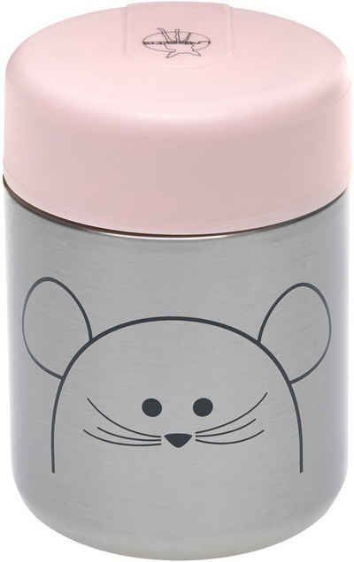 LÄSSIG Thermobehälter »Little Chums, Mouse«, Edelstahl, Polyprophylen (PP), Silikon, (1-tlg)