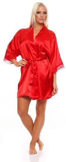 Kimono »Damen kurzer Kimono Nachtmantel Seidenrobe Reizwäs«, EloModa