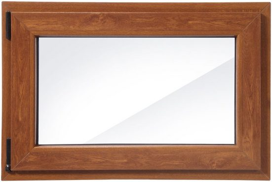RORO Kunststoff-Fenster »Classic 400«, BxH: 90x60 cm, eichefarben-dunkel, in 2 Varianten