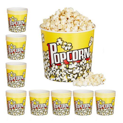 relaxdays Snackschale »48 x Popcorn Eimer wiederverwendbar«, PP