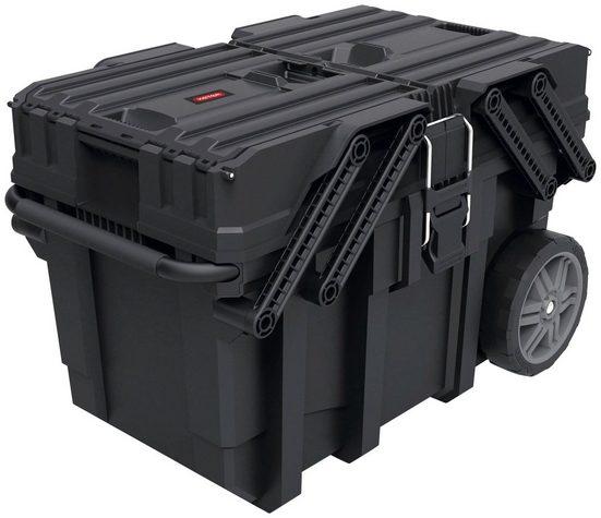 Keter Werkzeugtrolley »ROC«, Arm-Mechanismus, herausnehmbare Trennwände ermöglichen 3-8 Fächer, Zentralverriegelung