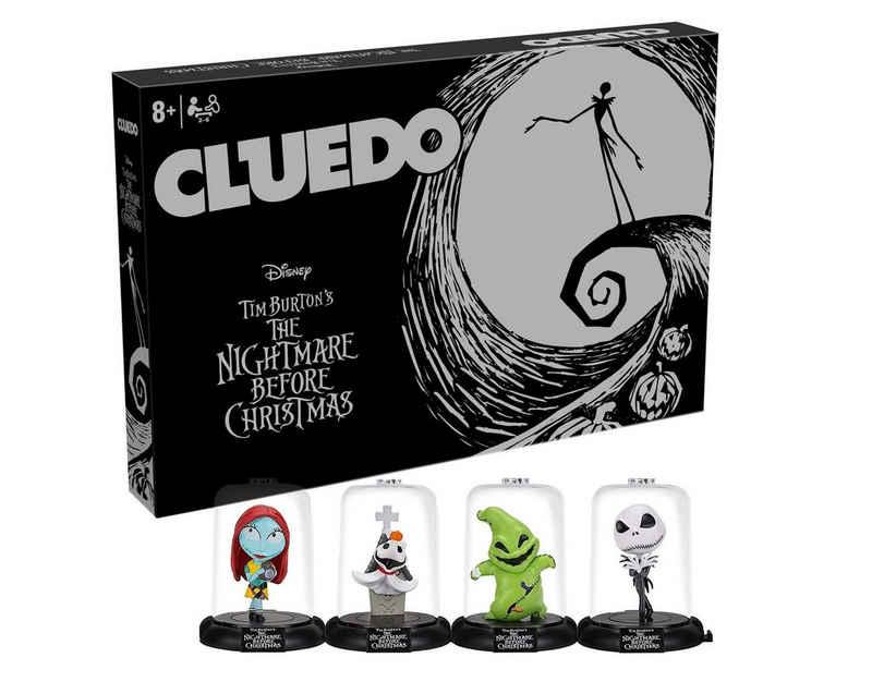 Winning Moves Spiel, Brettspiel »Cluedo Nightmare before Christmas + 4 Charakter Sammelfiguren«