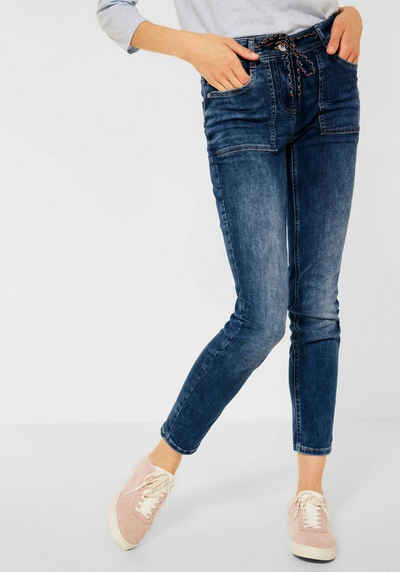 Cecil Loose-fit-Jeans »Style Scarlett« mit Tunnelzugband am Saum