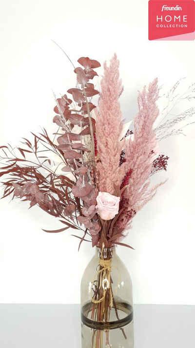 Trockenblume »Rosie«, freundin Home Collection, Höhe 85 cm, Blumenstrauß