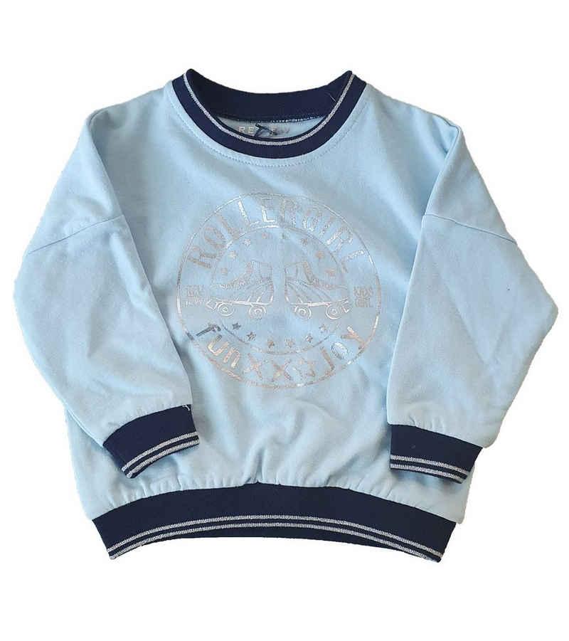 REVIEW Sweater »REVIEW FOR KIDS Rundhals-Pullover bequemer Kleinkinder Sweater Pulli Hellblau«