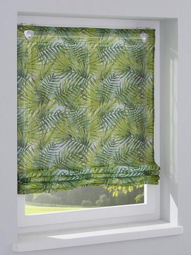 heine home Raffrollo mit schönem Palmblätterdessin