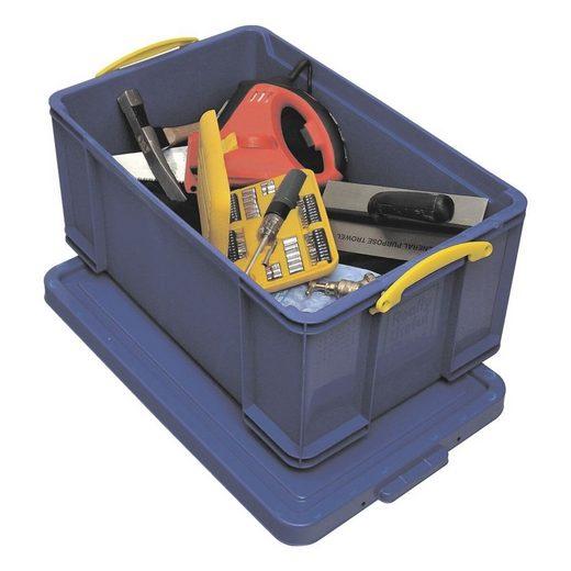 REALLYUSEFULBOX Aufbewahrungsbox, 64 Liter, blickdicht, verschließbar und stapelbar