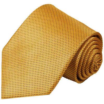 Paul Malone Krawatte »Designer Seidenkrawatte Herren Schlips modern gepunktet 100% Seide« Breit (8cm), gold braun 949