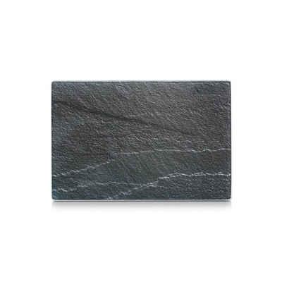 Neuetischkultur Schneidbrett »Glasschneideplatte Schiefer«, Glas, (1-St)