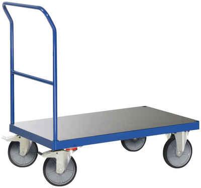 Protaurus Transportwagen, bis zu 600 kg Tragkraft, Ladefläche 1000 x 600 mm, mit 1 Schiebebügel
