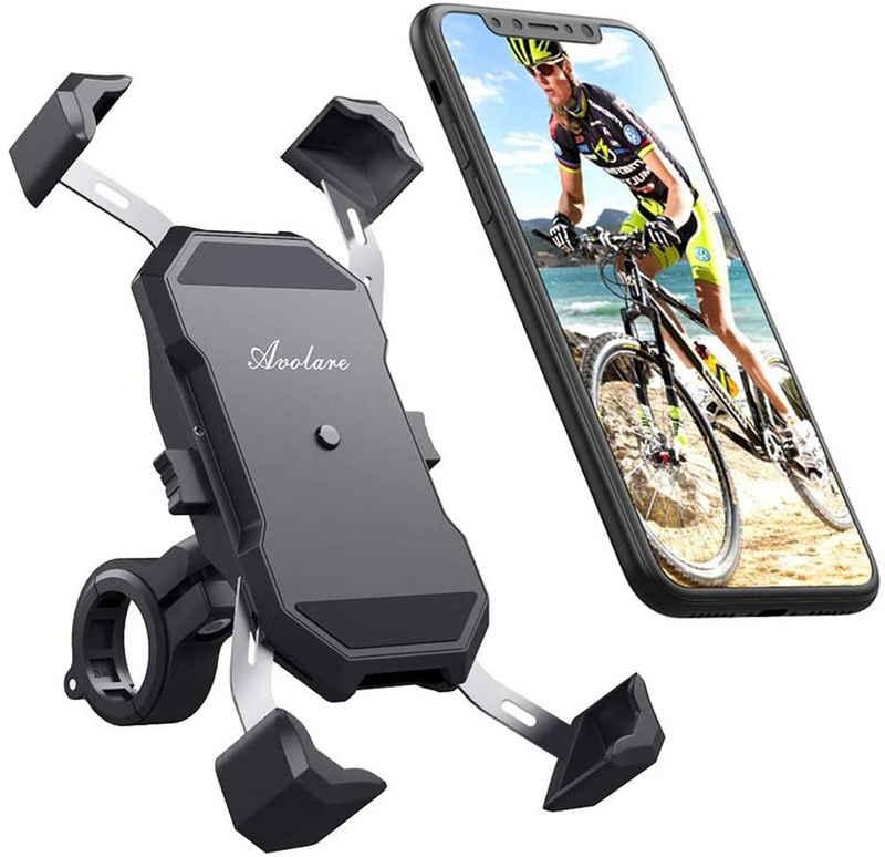 """Avolare Fahrradhalter »Fahrrad Handyhalterung« (Fahrradtelefonhalter, 1-tlg., Handyhalterung für Fahrrad/ Bike), Handyhalter Motorrad Universal für 5,5""""-6,5"""" Zoll Smartphone und 22-32mm Lenker, mit 360° Drehbar Motorrad Fahrrad Lenker für iPhone, Samsung S10 S9 S8 usw"""