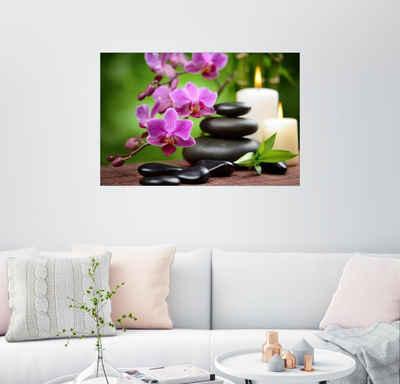 Posterlounge Wandbild, Wellness-Stillleben mit Orchideen