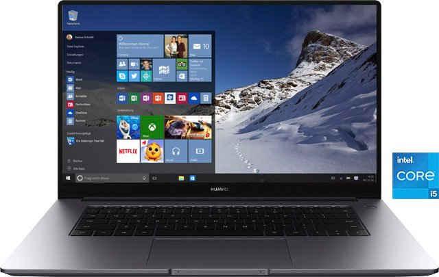 Huawei MateBook D 15 2021 Notebook (39,6 cm/15,6 Zoll, Intel Core i5 1135G7, Iris Xe Graphics, 512 GB SSD)