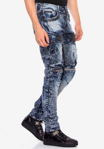 Cipo & Baxx Bequeme Jeans »Sunburst« mit Edelstein Taschen