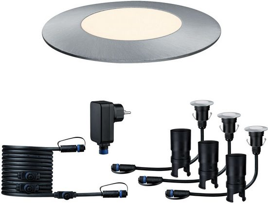 Paulmann LED Einbauleuchte »Outdoor Plug & Shine Starterset Floor Mini«, IP65 3000K