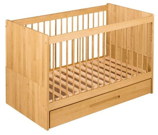 BioKinder - Das gesunde Kinderzimmer Babybett »Lina«, 70x140 cm mit Bettkasten
