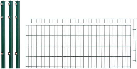 Doppelstabmattenzaun , 2 Stk., LxH: 4x0,8 m, grün