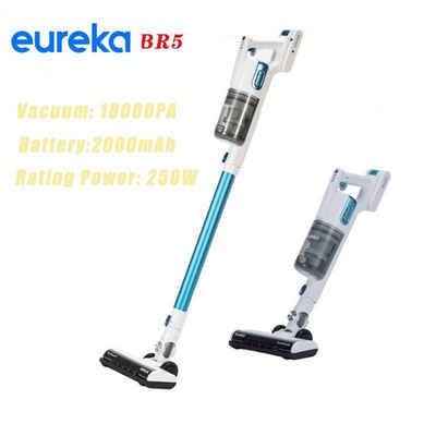 Eureka! Akku-Bodenstaubsauger EUREKA BR5, 18KPa Saug Power,LED Scheinwerfer, 4-bühne Zyklon Filtration System, Staubsauger