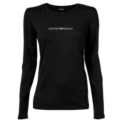 Emporio Armani T-Shirt »Damen T-Shirt - Rundhals, Langarm, Loungewear,«