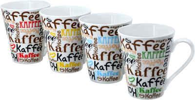 Retsch Arzberg Becher »Kaffeescript«, Porzellan, 4-teilig