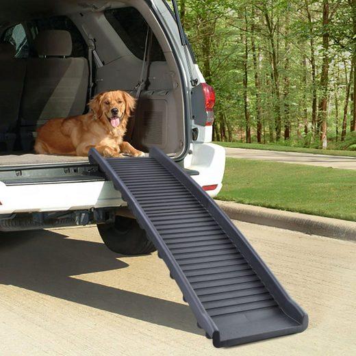 RAMROXX Hunderampe »Auto PKW Hunderampe Einstieghilfe Anti Rutsch klappbar Schwarz 155x40cm 90Kg«