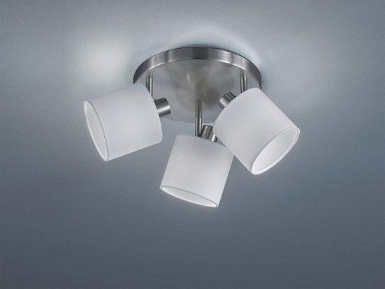 TRIO LED Deckenstrahler, dimmbarer Licht-Spot Strahler Rondell Küche 3-flammig Retro Decken-Strahler schwenkbare Flur-Beleuchtung