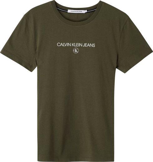 Calvin Klein Jeans Rundhalsshirt »INST ROUND CK TEE« mit Calvin Klein Jeans Logo-Schriftzug & Monogramm
