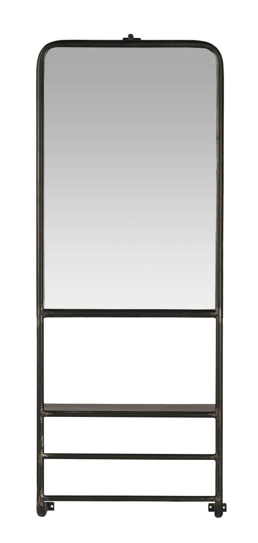 Ib Laursen Spiegel »Wandspiegel Spiegel mit Ablage und 2 Stangen 105x40cm Metall Ib Laursen 31082-25«