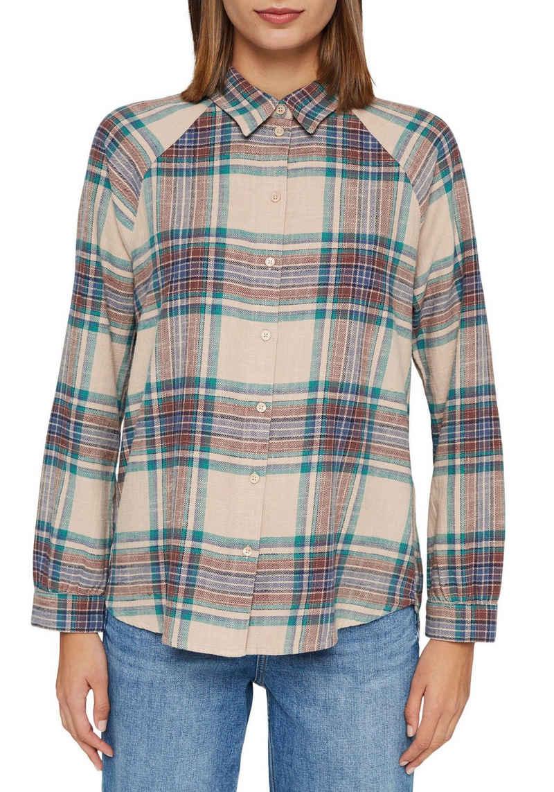 Esprit Hemdbluse mit klassischem Hemdkragen