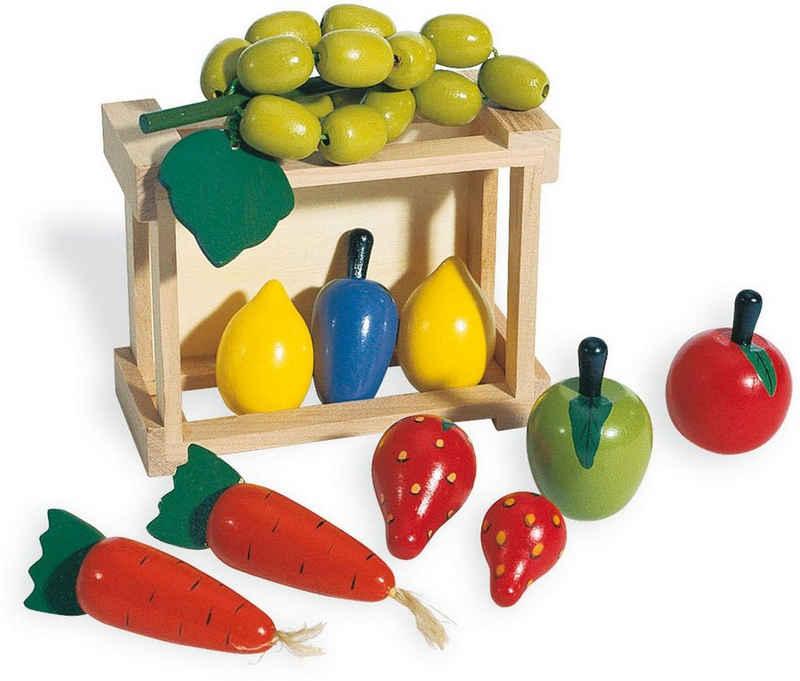 Pinolino® Kaufladensortiment »Kiste mit Gemüse«, (11-tlg)