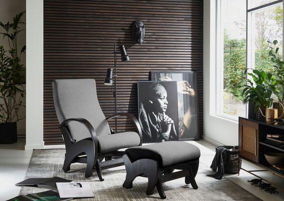Relaxsessel (Set, Sessel+Hocker), mit Rückenverstellung und Schaukelfunktion, Set inklusive Hocker