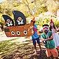 relaxdays Papierdekoration »Pinata Piratenschiff«, Bild 2