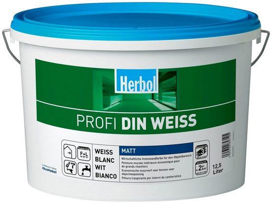 Wand- und Deckenfarbe »Profi DIN weiß«, 12,5 Liter Eimer