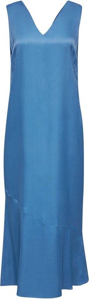 Festtagsmode - Esprit Collection Abendkleid aus Satin mit Volantsaum › blau  - Onlineshop OTTO