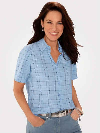 Mona Hemdbluse mit durchgehender Knopfleiste