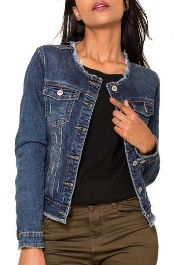 Nina Carter Jeansjacke »2736« Damen Denim Basic Jeansjacke ANNY Übergangsjacke