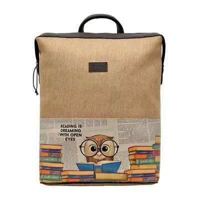 DOGO Laptoptasche »The Wise Owl«, Vegan