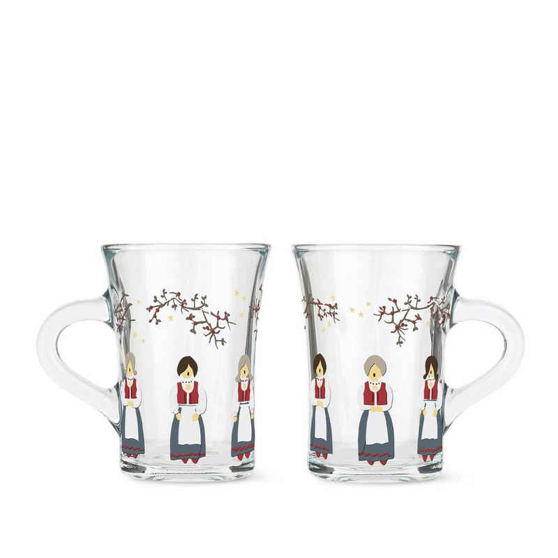 HOLMEGAARD Tasse »Thermo Gläser Weihnachten 2021, 2er-Set«, Glas