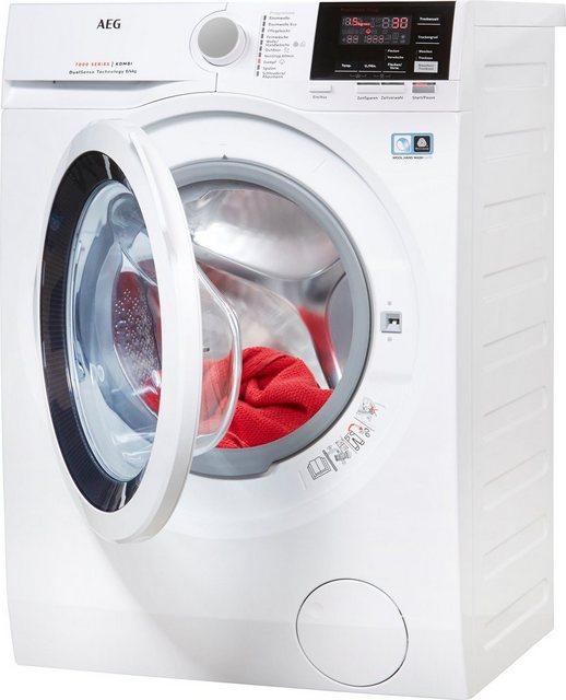 AEG Waschtrockner L7WB58WT| 8 kg/4 kg| 1550 U/Min| mit DualSense für schonende Pflege| 4 Jahre Herstellergarantie | Bad > Waschmaschinen und Trockner > Waschtrockner | AEG