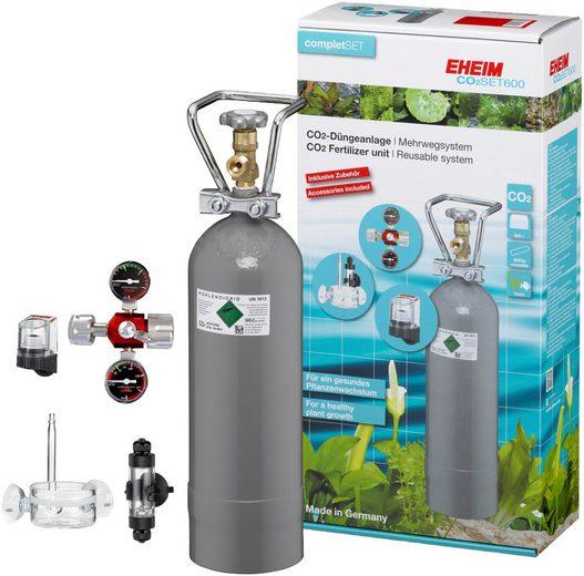 EHEIM Aquariumpflege »SET600«, (Set), CO²-Düngeanlage mit 2.000g Flasche, Mehrweg