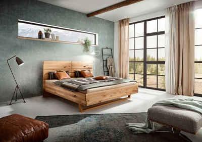 ADA premium Massivholzbett »Gisele«, in Wildeiche, wahlweise mit Matratze und Lattenrost