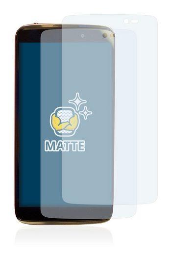 BROTECT Schutzfolie »für Alcatel One Touch Idol 3C«, (2 Stück), Folie Schutzfolie matt entspiegelt