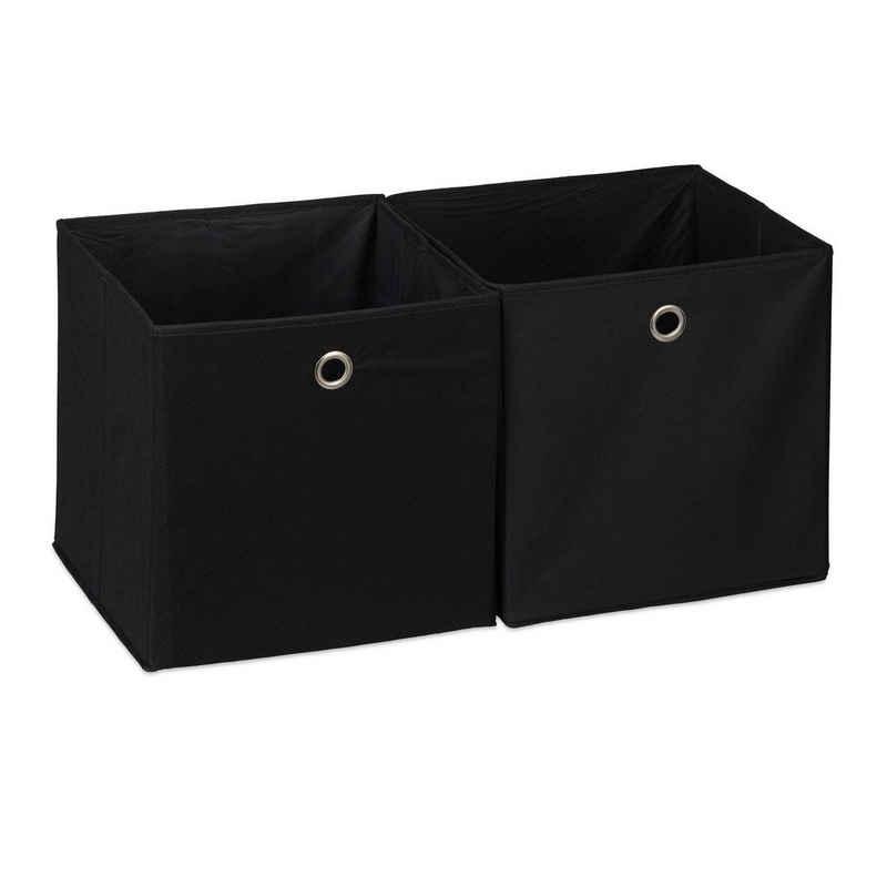 relaxdays Aufbewahrungsbox »Aufbewahrungsbox Stoff im 2er Set«