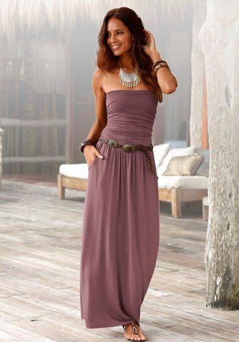 LASCANA Ilga suknelė su siauras Oberteil
